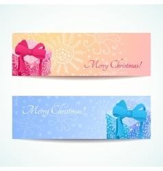 Christmas banners set vector image