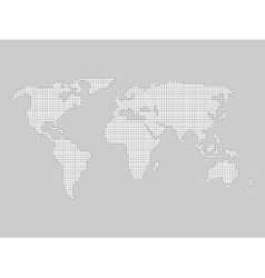 World map grid vector