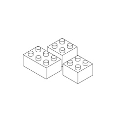 Building connector bricks icon isometric 3d style vector