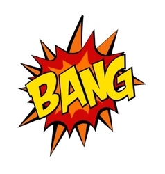 Retro cartoon explosion pop art comic bang letter vector