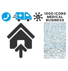 Building Entrance Icon with 1000 Medical Business vector image