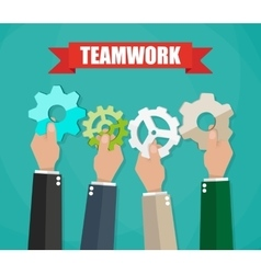 Business team and teamwork concept vector image