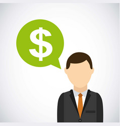 Businessman and money icon vector