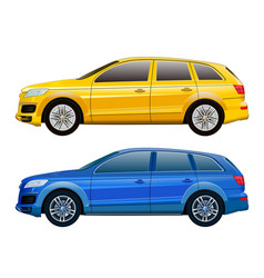 car mock-up for advertising corporate identity vector image