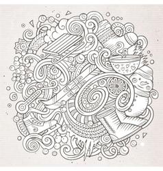 Cartoon doodles Winter season vector image vector image