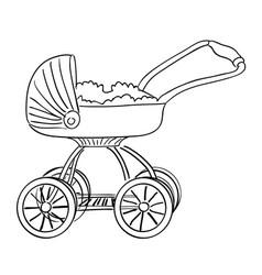 Cartoon image of stroller icon pram symbol vector