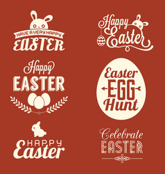 Easter typographic vector