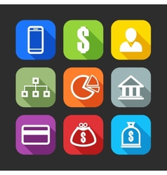 flat icons for web and mobile applications flat vector image