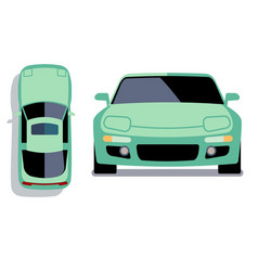flat-style cars in different views vector image vector image