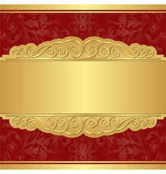 gold and red background vector image vector image