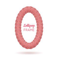 Lollipop red frame vector