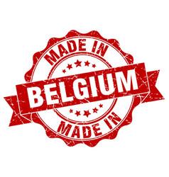 Made in belgium round seal vector