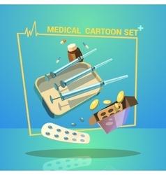 Medicine Cartoon Set vector image vector image