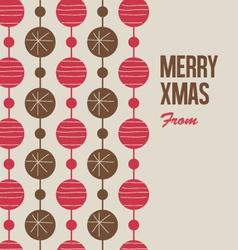 Merry Christmas card with christmas balls vector image