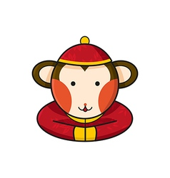 Monkey chinese vector