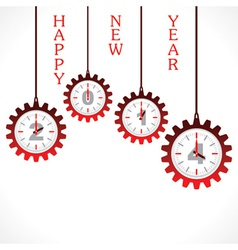New year greeting 2014 with gear vector image vector image