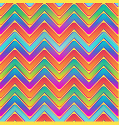 rainbow waves seamless pattern vector image vector image