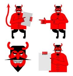 Set satana and devil daemon in different poses vector