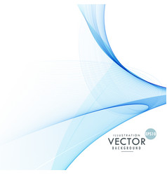 stylish abstract blue wavy background design vector image vector image