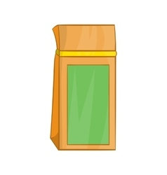 Tea packed in a paper bag icon cartoon style vector