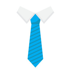 tie flat icon business and necktie vector image