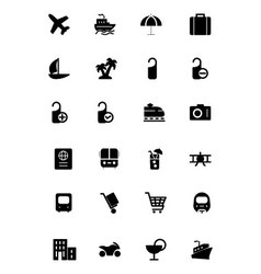 Travel solid icons 1 vector