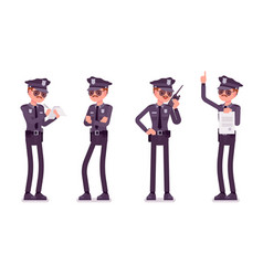 young policeman unhappy with his job vector image vector image