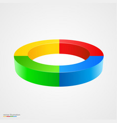 abstract colorful 3d circle vector image