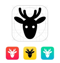 Christmas deer icon vector