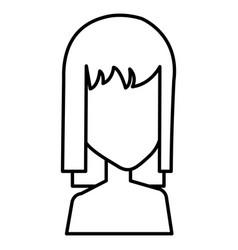 Beautiful woman shirtless avatar character vector