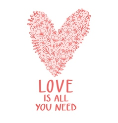 Love is all you need vector