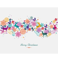 Merry christmas colorful garland banner vector
