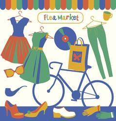 Flea market Garage sale vector image