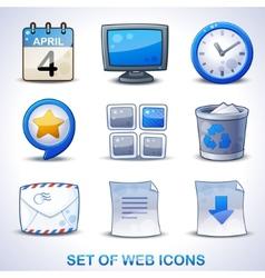 Web icons blue set vector image