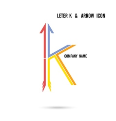 Creative letter k icon logo design vector