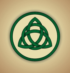 Celtic knot symbol of trinity vector