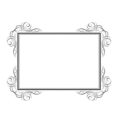 Calligraphy ornamental decorative frame vector