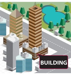 Map isometric building vector