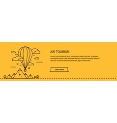 Air Tourism Web Page Design Flat vector image vector image