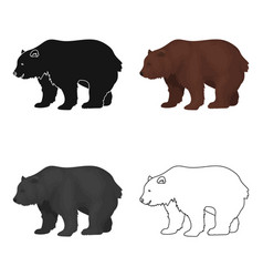 Canadian brown bear canada single icon in cartoon vector