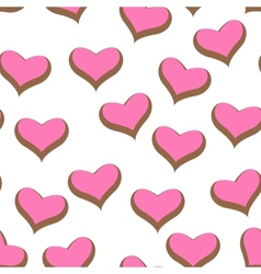Color hearts vector image