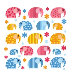 Colorful with an elephant vector