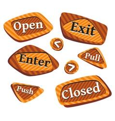 Door-signs vector