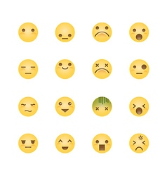 Emoji avatar collection set emoticons isolated ico vector image vector image