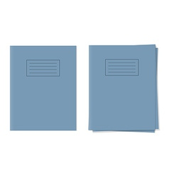 exercise books vector image vector image
