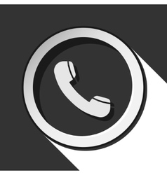Icon - telephone handset with shadow vector