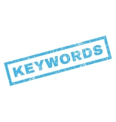 Keywords rubber stamp vector