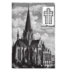 Lazarist church at vienna vintage vector