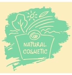 Logo label sticker tag for natural cosmetics vector