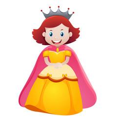 Queen in yellow dress vector